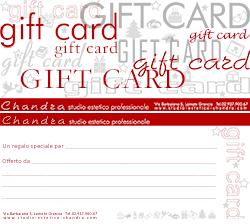 Chandra Studio estetico professionale: mini gift card
