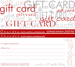 Chandra Studio estetico professionale: mini gift card